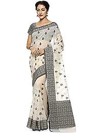 Soch Cream Cotton Embroidered Saree