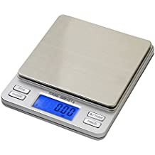 Smart Weigh Balance de poche digitale avec affichage LCD Rétro-éclairage Capacité 0,1 g-2 kg