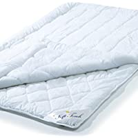 aqua-textil Soft Touch 4 Jahreszeiten Bettdecke 135 x 200 cm Steppdecke atmungsaktiv Decke Winter Sommer 0010577
