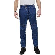 Nerve Ranger Jeans Pantalones Vaqueros de Moto, Azul, XL