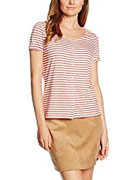 Tom Tailor Denim Striped Shirt W Placket, T-Shirt Femme