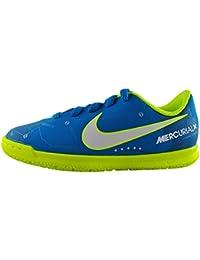 Nike JR MERCURIALX VRTX III NJR IC - Zapatillas de fútbol sala de Neymar Jr, Unisex infantil, Azul - (Blue Orbit/White-Blue Orbit-Armory Navy)