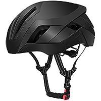 XDXDWEWERT Bicicleta Casco de Bicicleta Ajustable para Adultos Casco de Bicicleta de montaña porosa Casco de Bicicleta de una Pieza (Negro)