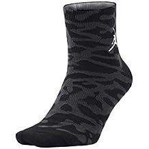 Nike Jordan Elephant QTR Calcetines Altos, Hombre, Negro, Large