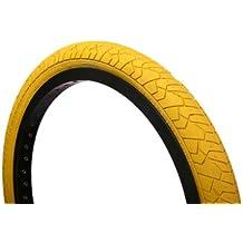Curio UK S199 - Neumático de bicicleta BMX de 20x1,95pulgadas para rampas y calle, color amarillo