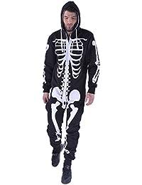Mymixtrendz. Hombre Unisex Halloween Esqueleto Onesie
