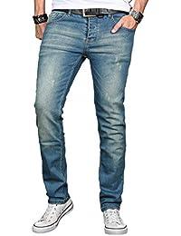 A. Salvarini Herren Designer Jeans Hose Stretch Basic Jeanshose Regular Slim