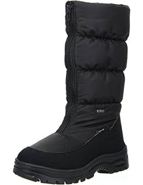 Vista Damen Winterstiefel Snowboots EISKRALLEN schwarz