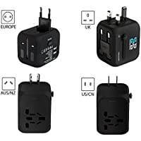 Universal Adaptor Travel Adapter Plug With 2 USB Ports Comes With Free USB Charging Cable Works In Over 150 Countries Including UK, EU, US, AU