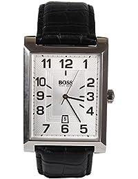 bf7518225036 Hugo Boss 1512358 - Reloj de Caballero movimiento de quarzo con correa de piel  negro