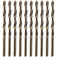 Juego de brocas para taladro, cobalto de titanio M35 HSS metal broca herramienta industrial para acero inoxidable, acero, cobre, hierro, aluminio, madera y plástico