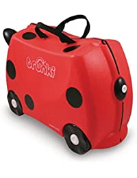 Trunki Trunki Ride-On Suitcase Bagage Enfant, 46 cm, 18 L, Rouge et Noir