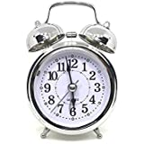 Dkdas Steel Twin Bell Alarm Clock with Night Led Light