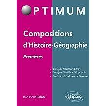 Compositions d'Histoire Géographie - Premières
