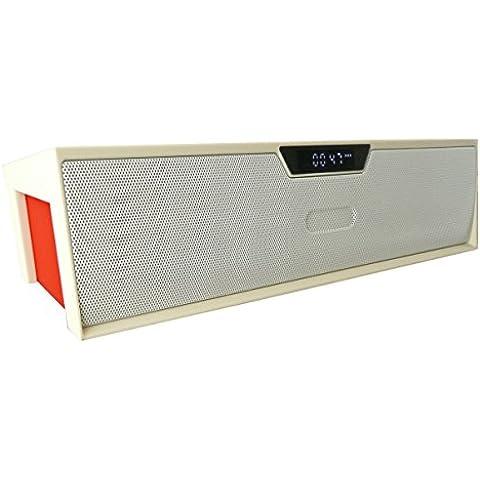 Emartbuy ® Bianco SoundBox Portatile Bluetooth Senza Fili Altoparlante Con Mic Adatta Per Verizon Ellipsis 7 / Verizon Ellipsis 8 / Verizon Ellipsis 10 Tablet PC