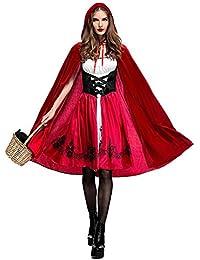 Biback Frauen Rotkäppchen Kostüm Halloween Weihnachtsfeier Rollenspiel Adult Cosplay Kleid
