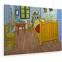 weewado Vincent Van Gogh - El Dormitorio - 100x75 cm - Impresion en Lienzo - Muro