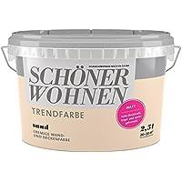 SCHÖNER WOHNEN FARBE Wand- und Deckenfarbe Trendfarbe Sand, matt, 2,5 l 2 l, Sand