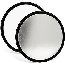 igadgitz 30cm 2 en 1 Réflecteur de Lumière Diffuseur Pliable Professionnel Photo Studio avec Housse – Argent & Blanc