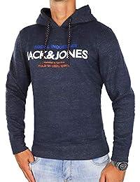JACK & JONES Herren Kapuzenpullover jcoFUSE Sweat Hoodie Print Regular Fit