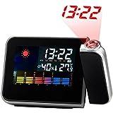 GAOHL LED reloj electrónico temperatura humedad pantalla USB con luz de fondo