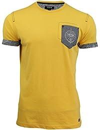 Firetrap Crew Neck Tee Pitchard Plain Cotton T-Shirt