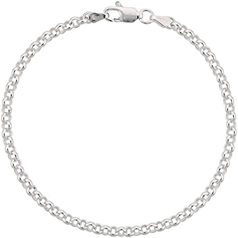 925 argento sterling catena rolò ltext, 3,5 mm, taglie 18-76 cm