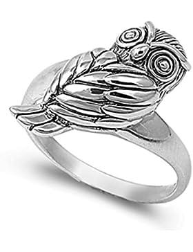 Ring aus Sterlingsilber - Eule