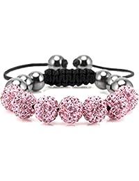 Bracelet Shamballa avec des cristaux par BodyTrend - rose saphir