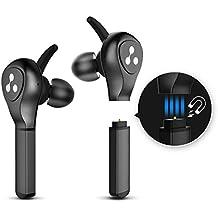 Auriculares Bluetooth, Syllable D9X Auriculares Deportivos con la Batería de Enchufar Bluetooth 4.2 Sonido Estéreo de Calidad Superior con Caja de Batería con caja de carga portátil para iPhone y Smartphone