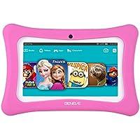 beneve Android 7.1Tablette pour Enfants, Tablette PC 17,8cm avec 1Go de RAM et 8Go de ROM, WiFi, Logiciel de Enfants Iwawa pré-installées, Bleu/Rose Téléchargez-la pour