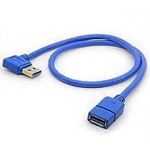 50cm cavo prolunga USB 3.0sinistra angolo di 90gradi adattatore tipo A Maschio a Femmina ad alta velocità, super Fast 5Gbps cavo di trasferimento dati sincronizzazione