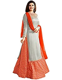 Crazy Women's Party Wear Georgette Indo Western Salwar Suits For Women Semi Stitched