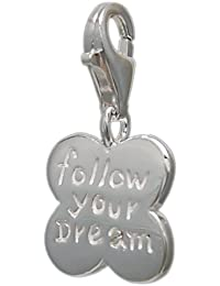 Melina Damen-Charm Anhänger Kleeblatt 925 Sterling Silber 1800559