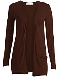 Crazy Girls Gilet en tricot à manches longues pour Femme Style Boyfriend–Nombreuses couleurset tailles