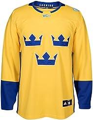Team Sweden 2016World Cup of Hockey Adidas Men 's Premier Yellow Jersey Camiseta, xx-large