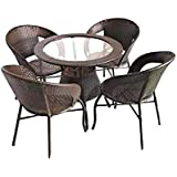 WICKER HUB GC04 Outdoor (Chair Table Two Tone) - Set of 4