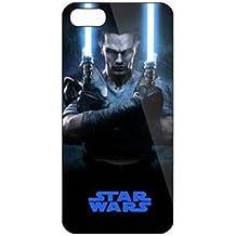 iPhone 5c Star Wars Carcasa de Telefono / Cubierta para Apple iPhone 5C / Protector de Pantalla y Paño / iCHOOSE / Daul Lightsabers