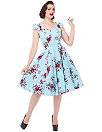 Hearts & Roses Damen Kleid Blau Blau