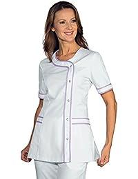 Isacco-Camiseta de manga corta, diseño de médico individual, color blanco y morado