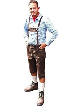 5 teiliges Trachten Set Hemd Socken Lederhose Halstuch Schuhe Trachtenschuhe in vielen Größen Oktoberfest