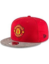 308d7f8ef38 Manchester United 9Fifty Suede Vize Football Snapback Cap - Scarlet Grey