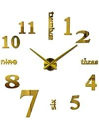Wall clock Reloj de Pared Digital de 20 Pulgadas Reloj de Pared 3D salón Reloj de