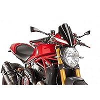 Puig 8900N Touring Screen for Ducati Monster 1200R 16'-17', Black