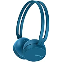 Sony WHCH400H - Auriculares inalámbricos (Bluetooth, NFC, micro para llamadas con manos libres, óptimo para trabajar en casa), Azul