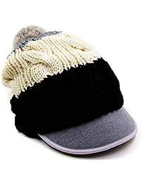 LIXUE Sombrero de Lana elástico Mujer Invierno Coreano Lengua de Pato Ola Pato  Sombrero de Punto Simple Orejeras Calle Boina (Color… 2ef5e0565c1