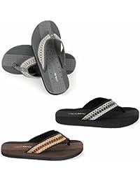 76f15d02f Urban Beach Mens Squash Toe Post Beach Flip Flops Sandals Shoes (Sizes  Adults 6-