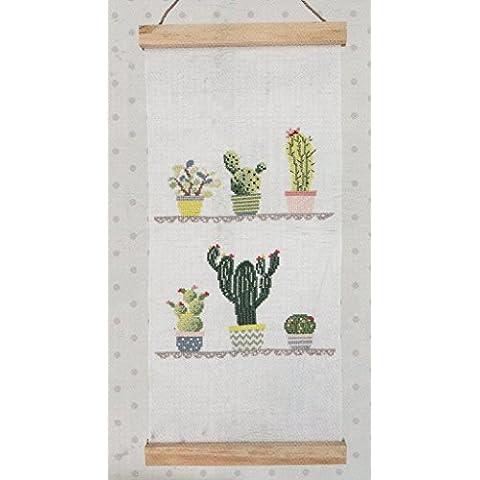 Rico Design Cactus Kit da appendere alla parete, Lino, Multicolore