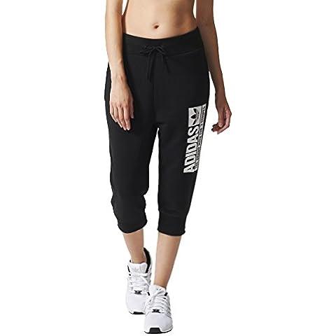 Adidas–Sport/allenamento da donna pantaloni a 3/4, Donna, Sport/Trainings-hose 3/4, nero,