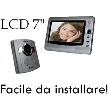 """Videocitofono a colori con monitor LCD da 7"""" 4 Fili - Mod. Easy Instal (Cod.:2603)"""